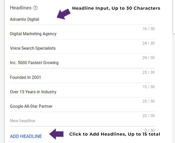 sample responsive search ad