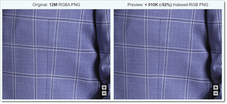 compressed image comparison